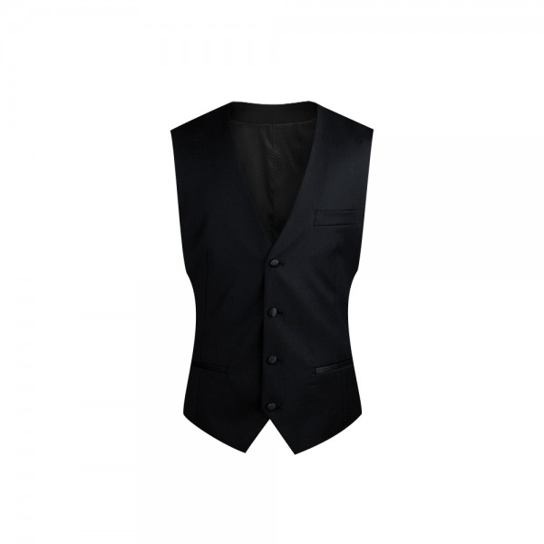 InStitchu Collection Black Tuxedo Vest