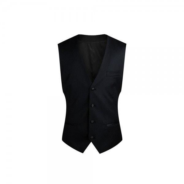 InStitchu Collection Black Tuxedo Vest