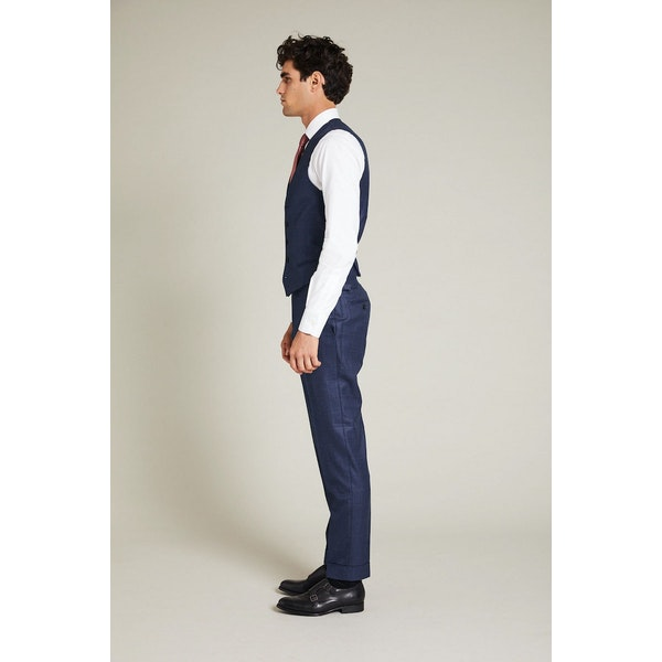 InStitchu Collection The Casey Navy Windowpane Vest