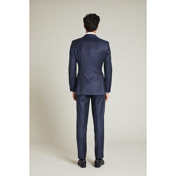 InStitchu Collection The Lander Navy Pinstripe Vest