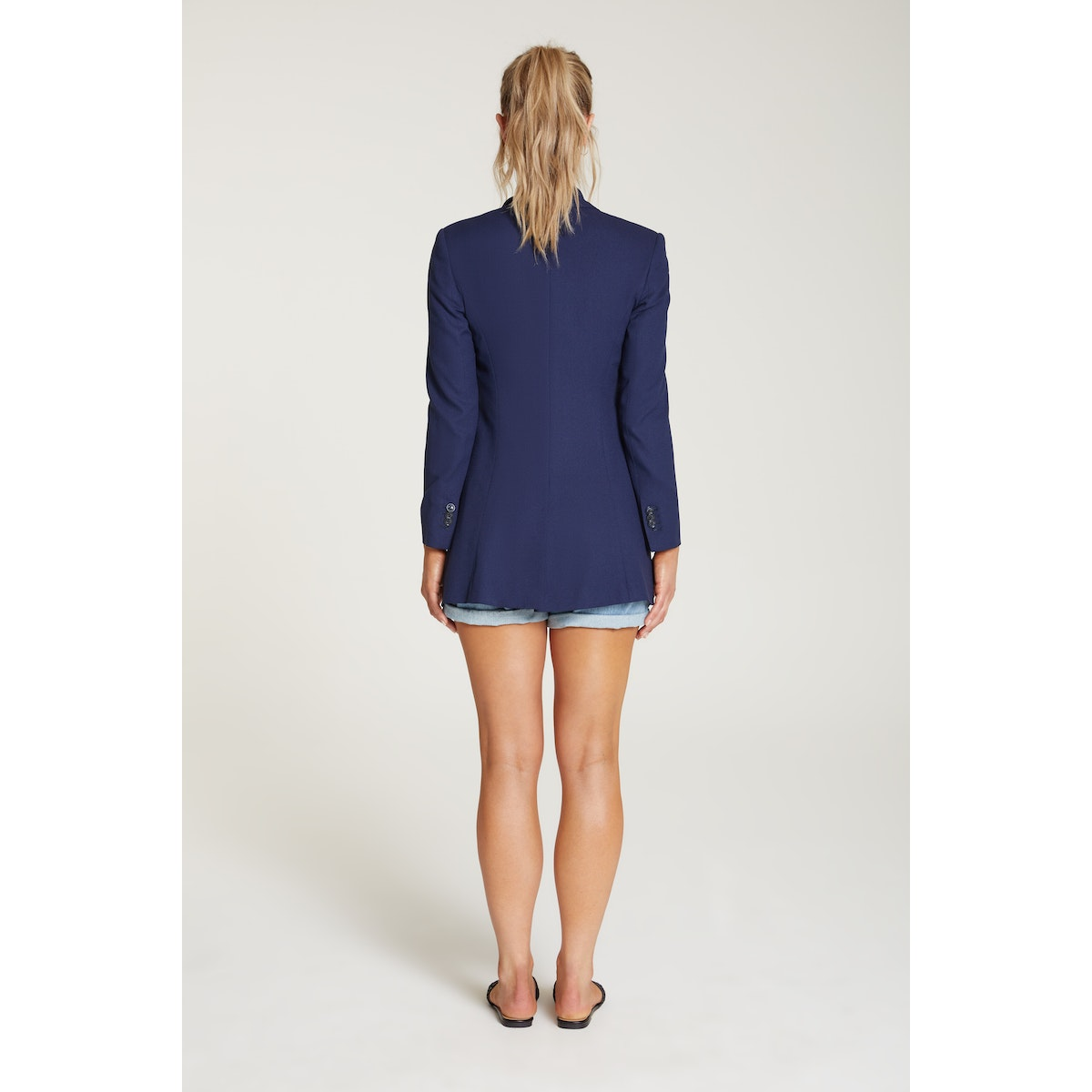 InStitchu Collection The Atkins Navy Crepe Jacket