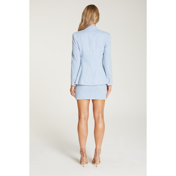 InStitchu Collection The Augusta Baby Blue Linen Jacket