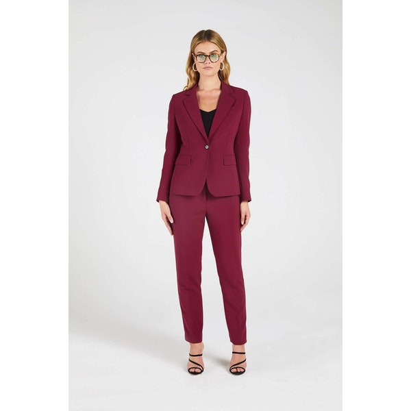 InStitchu Collection The Blanchett Pink-Red Jacket