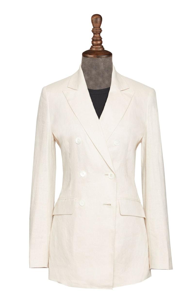 InStitchu Collection The Cabarita Cream Linen Jacket