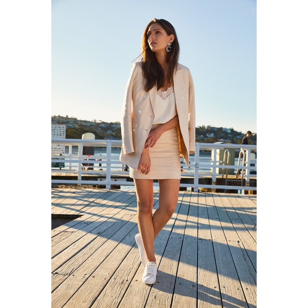 InStitchu Collection The Cabarita Cream Linen Jacket
