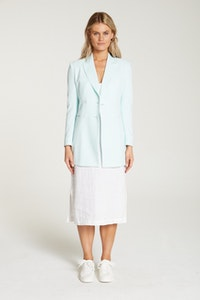 InStitchu Collection The Carrington Mint Green Crepe Jacket