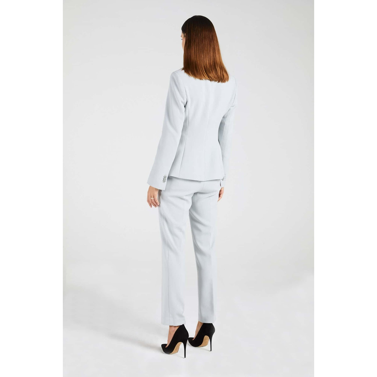 InStitchu Collection The Cowan Powder Grey Jacket