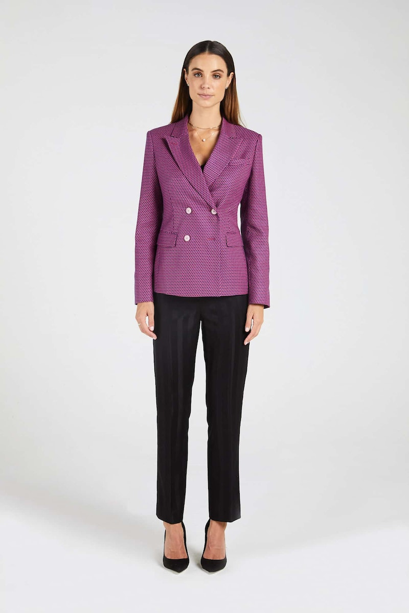 InStitchu Collection The Franklin Pink and Purple Zig-Zag Jacket