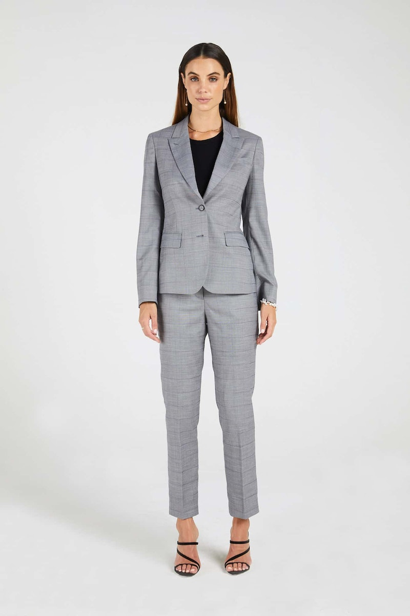 InStitchu Collection The Fraser Pastel Purple Windowpane Grey Jacket