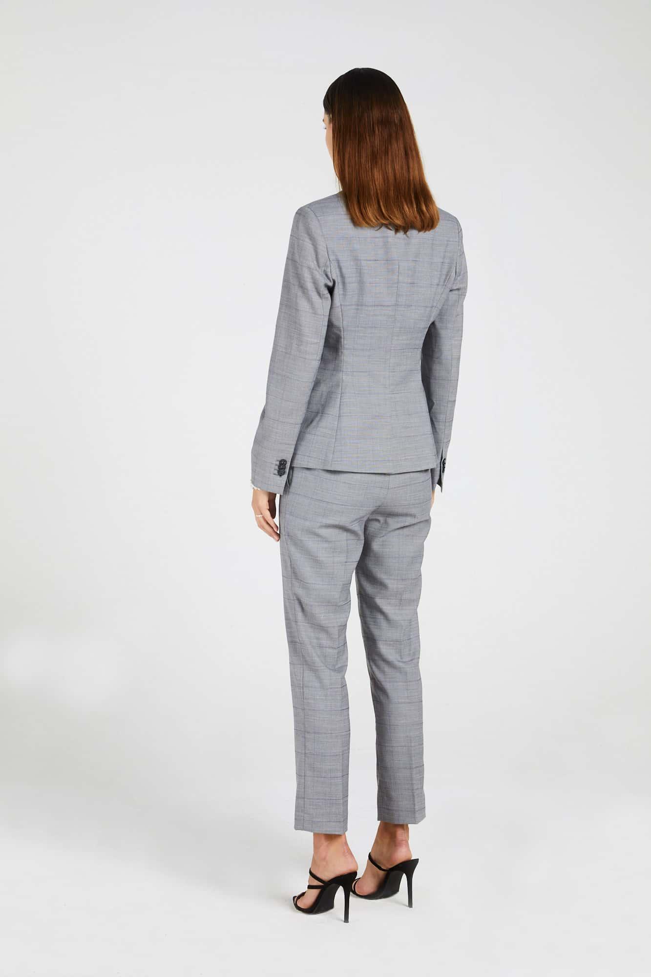 InStitchu Collection The Fraser Pastel Purple Windowpane Grey Jacket
