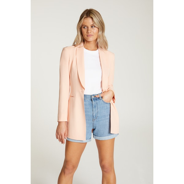 InStitchu Collection The Gallagher Peach Crepe Jacket