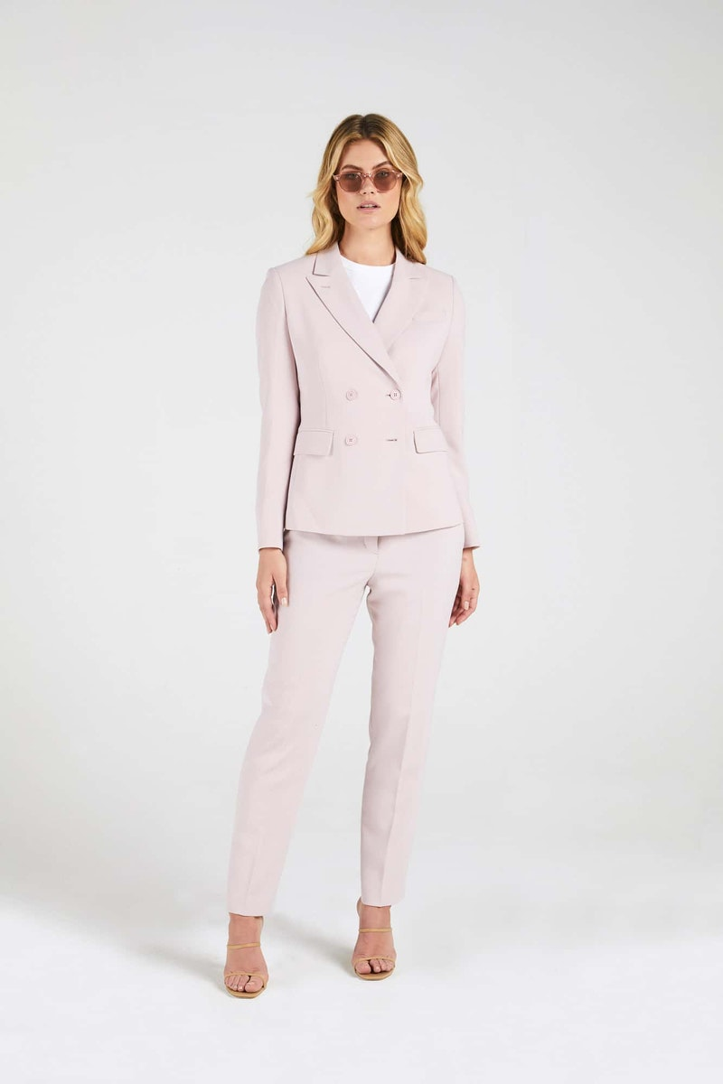 InStitchu Collection The Gorham Pastel Pink Jacket