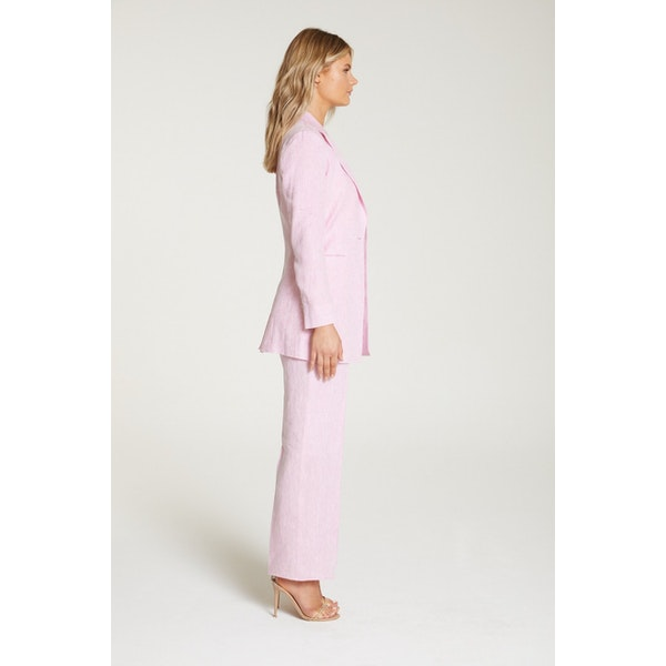 InStitchu Collection The Hendry Pink Linen Jacket
