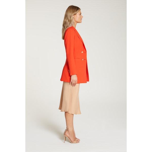 InStitchu Collection The Kusama Red-Orange Crepe Jacket