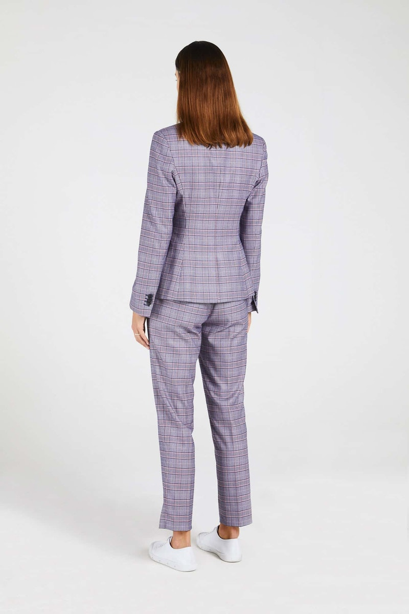 InStitchu Collection The Lovely Navy and Pink Glen Plaid Jacket
