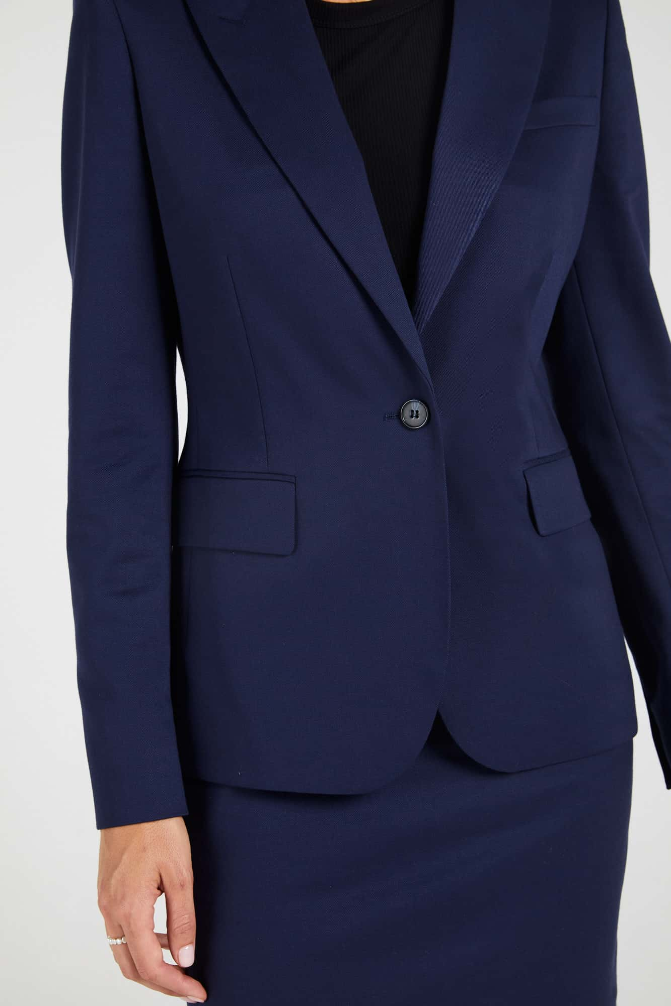 InStitchu Collection The Melba Navy Blue Jacket