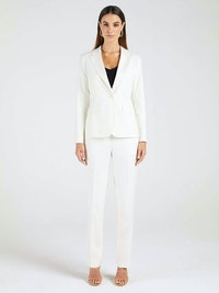 InStitchu Collection The Norah White Pinstripe Jacket
