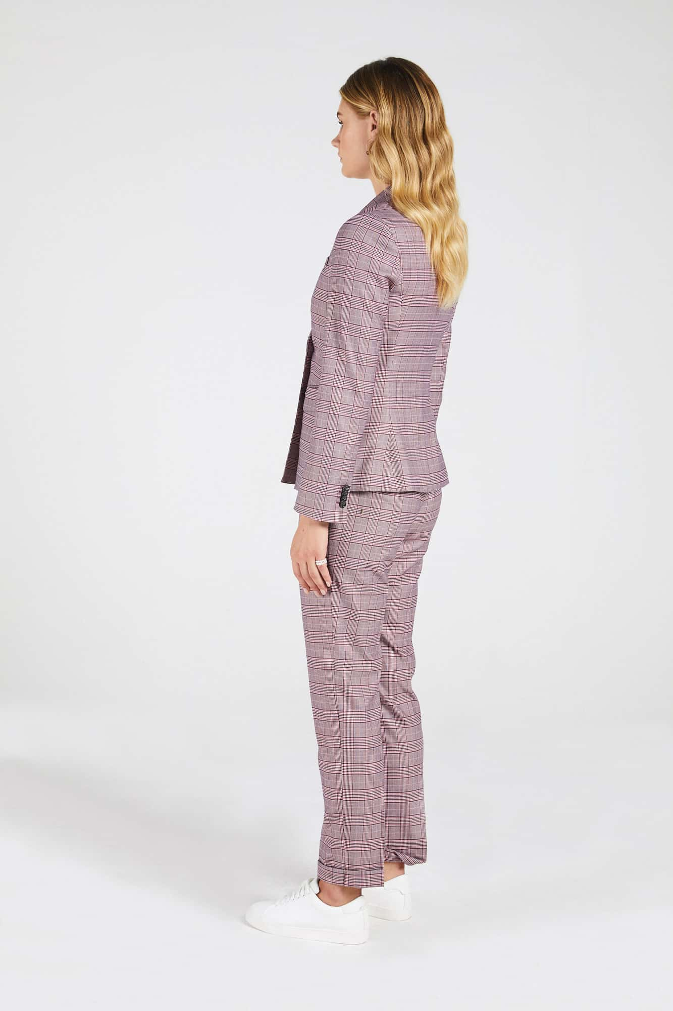 InStitchu Collection The Thomas Pink Glen Plaid Jacket