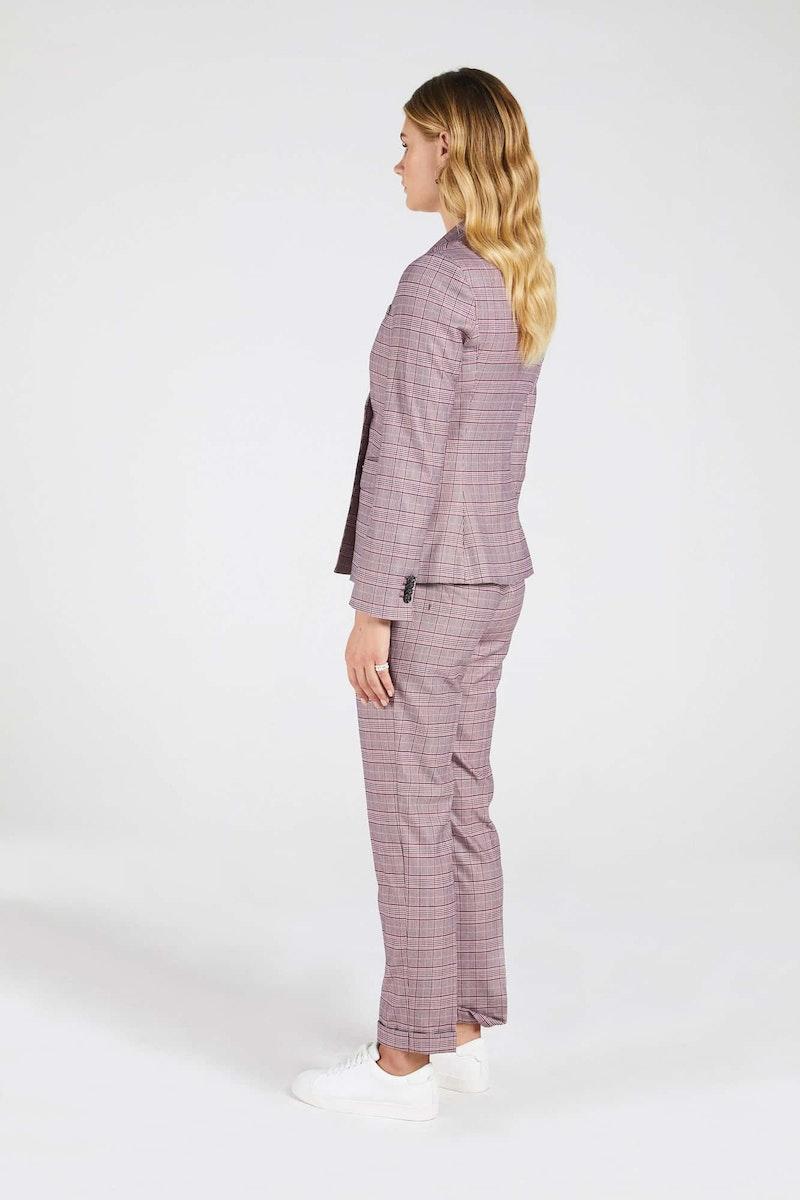InStitchu Collection The Thomas Pink Glen Plaid Jacket