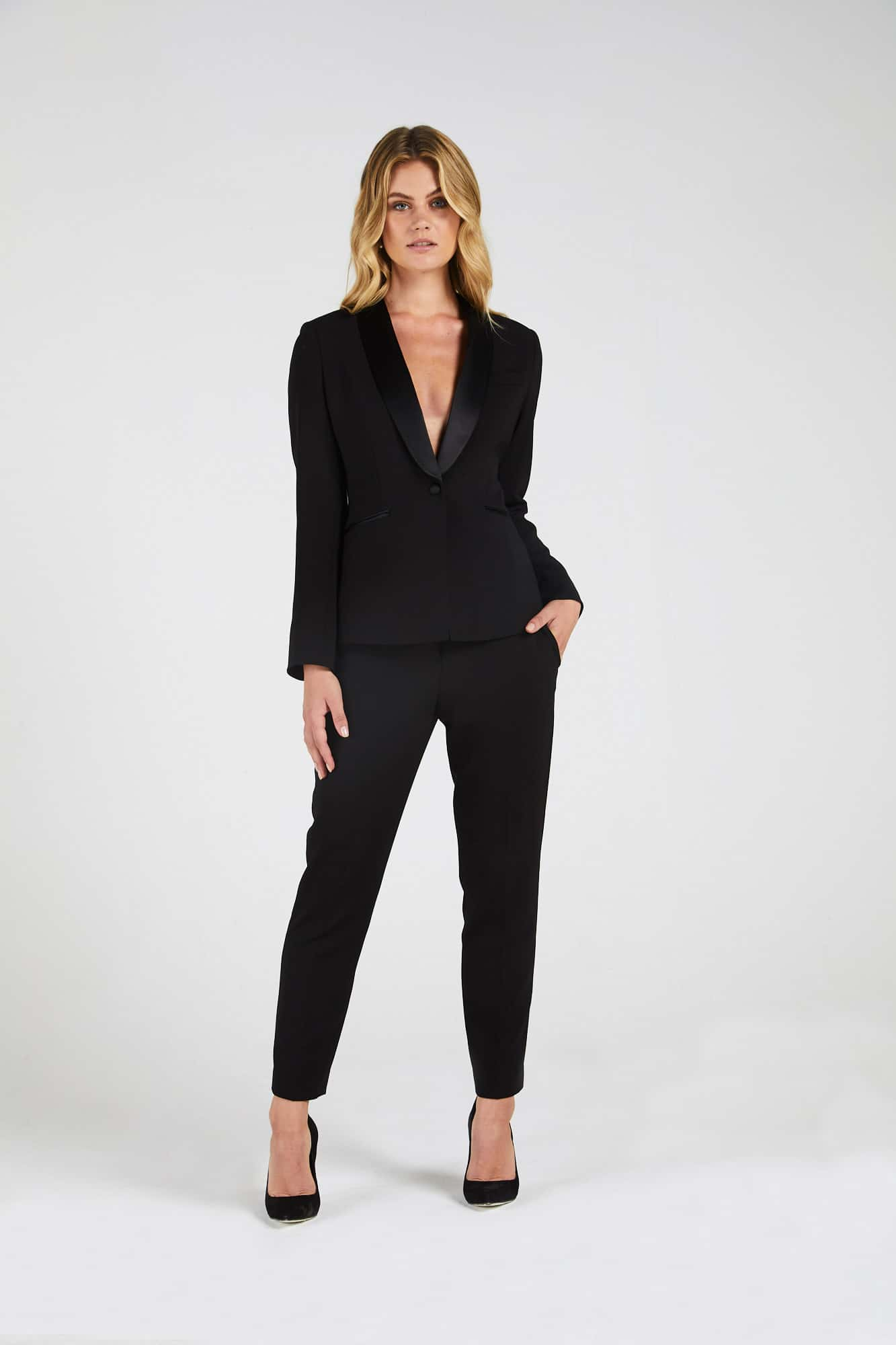 InStitchu Collection The Travers Black Tuxedo Jacket