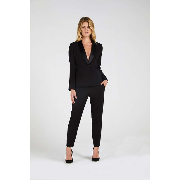 InStitchu Collection The Travers Black Tuxedo Jacket