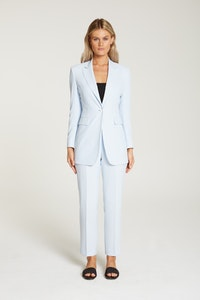 InStitchu Collection The Vanderbeek Pastel Blue Crepe Jacket
