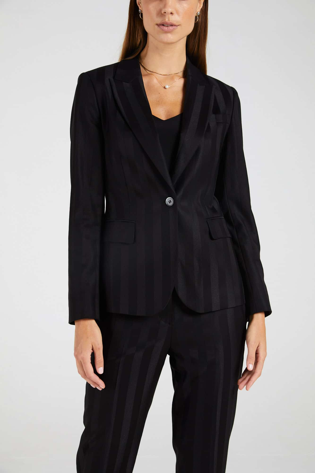 InStitchu Collection The Watts Thick Black Pinstripe Jacket