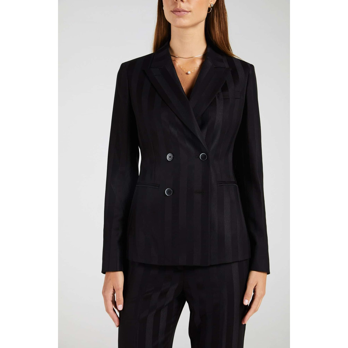 InStitchu Collection The Wylie Thick Black Pinstripe Jacket