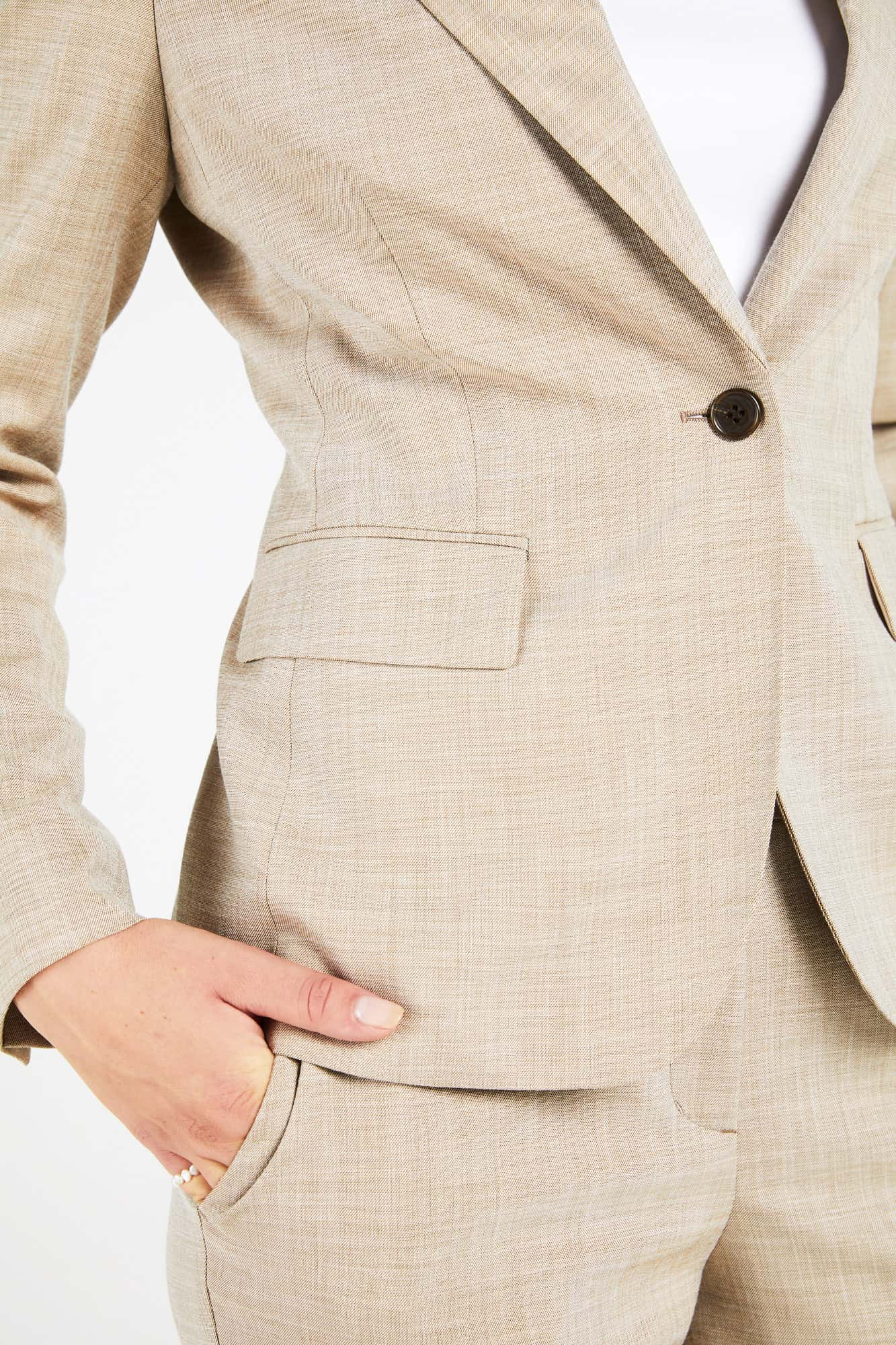 InStitchu Collection The Blackburn Beige Textured Pants