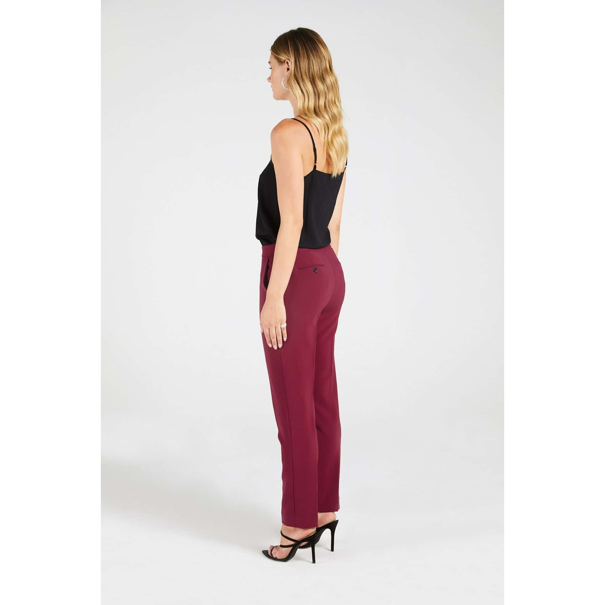 InStitchu Collection The Blanchett Pink-Red Pants