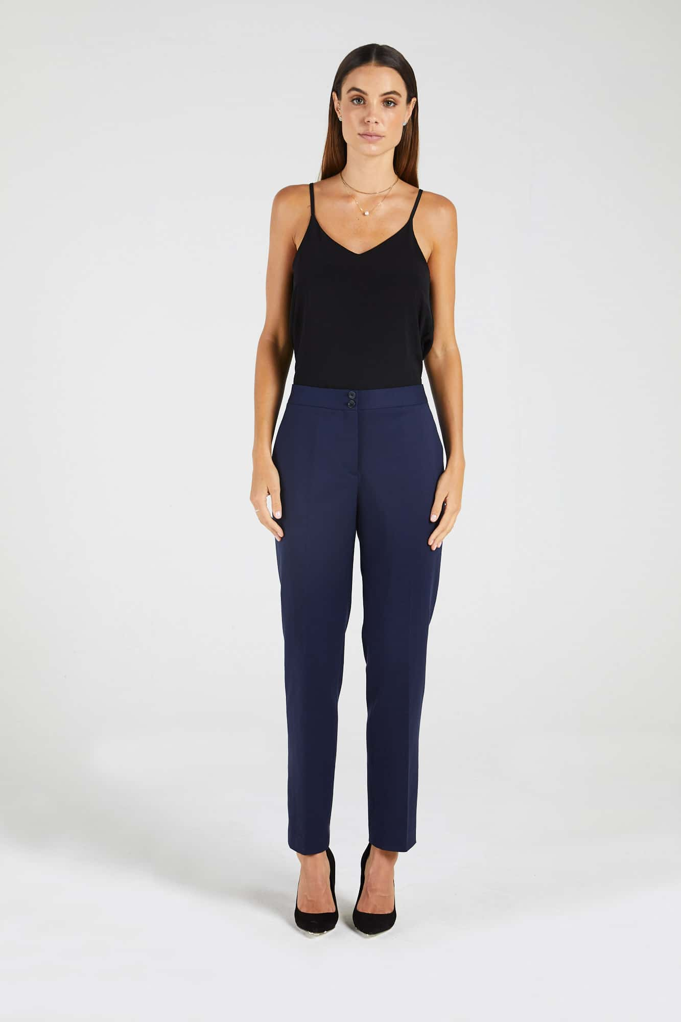 InStitchu Collection The Bonney Navy Tuxedo Pants