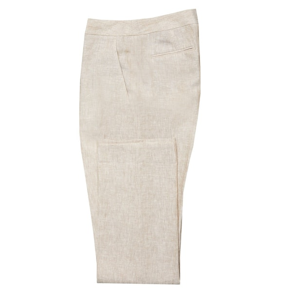 InStitchu Collection The Casuarina Beige Linen Pant