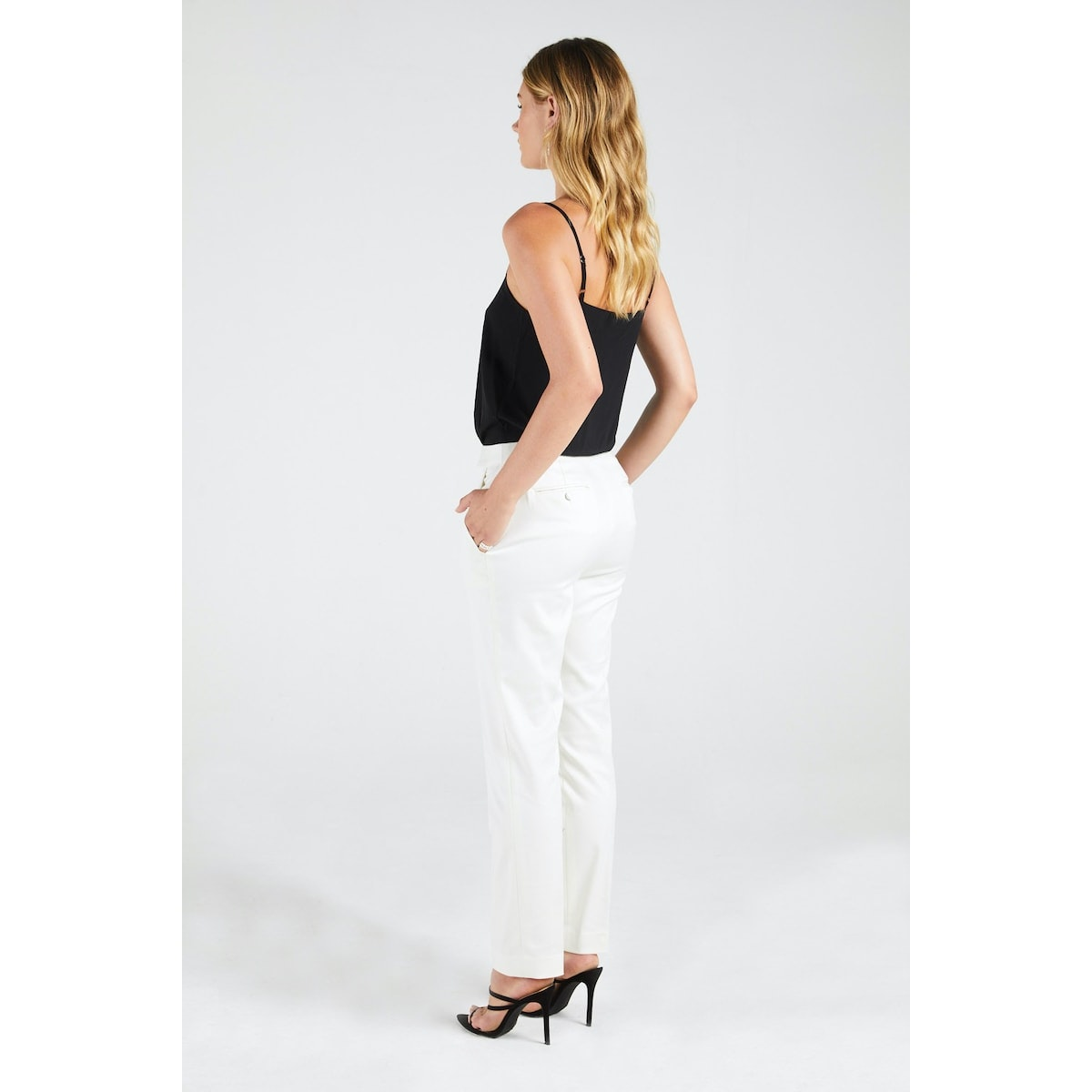 InStitchu Collection The Curtis Ivory Tuxedo Pants