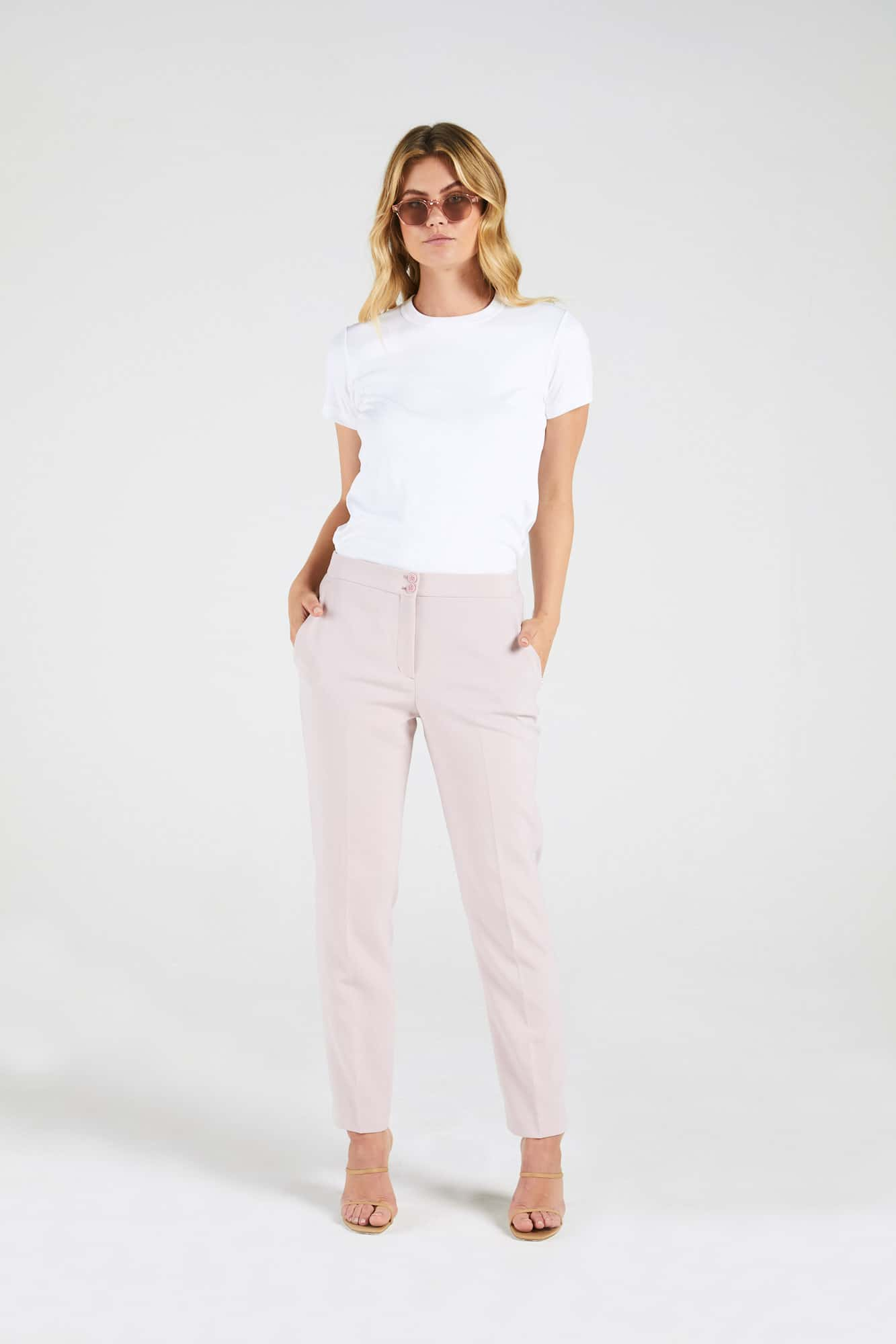 InStitchu Collection The Gorham Pastel Pink Pants