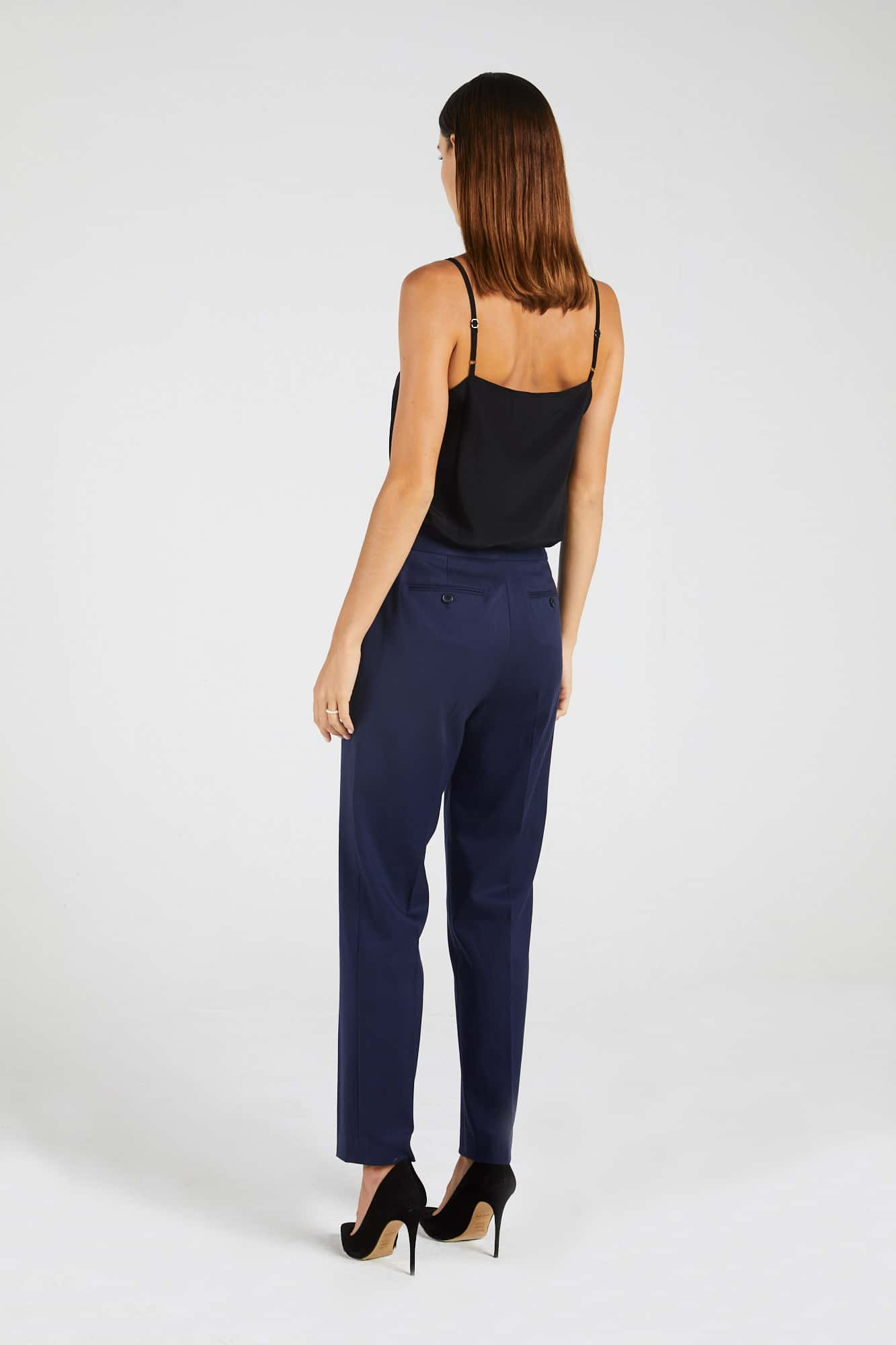 InStitchu Collection The Melba Navy Blue Pants