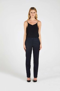 InStitchu Collection The Pattie Dark Navy Herringbone Pants