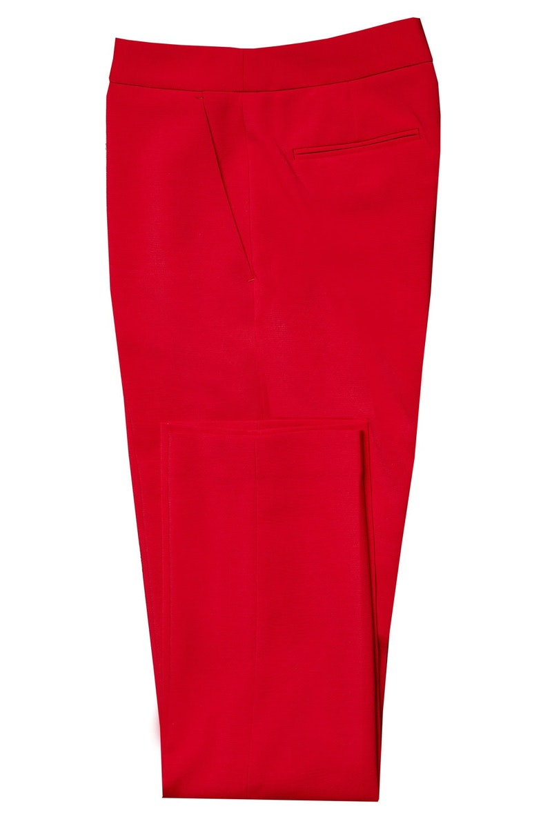 InStitchu Collection The Rosebud Red Pants