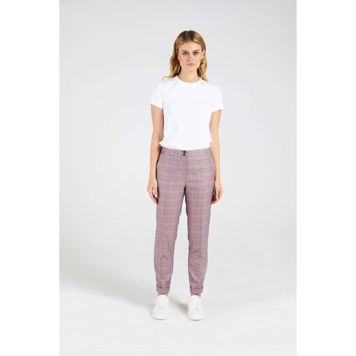 InStitchu Collection The Thomas Pink Glen Plaid Pants