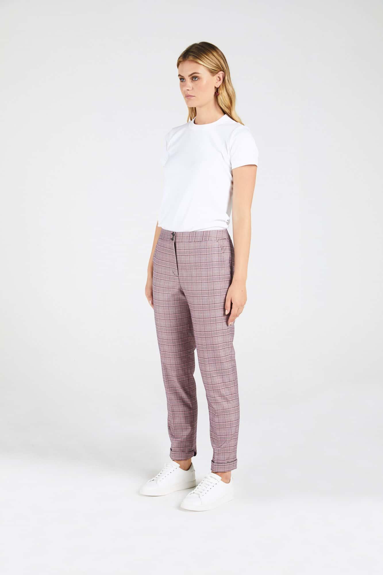 InStitchu Collection The Thomas Pink Glen Plaid Pants