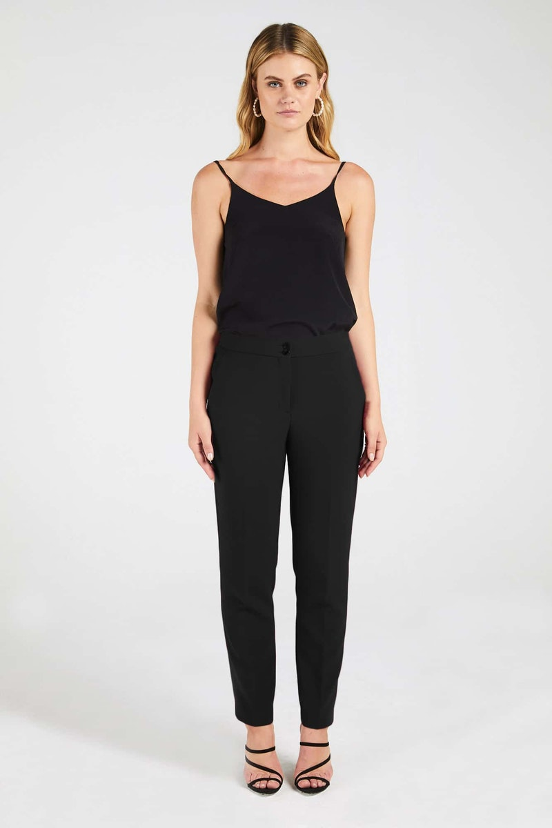 InStitchu Collection The Travers Black Tuxedo Pants