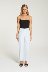 InStitchu Collection The Vanderbeek Pastel Blue Crepe Pants