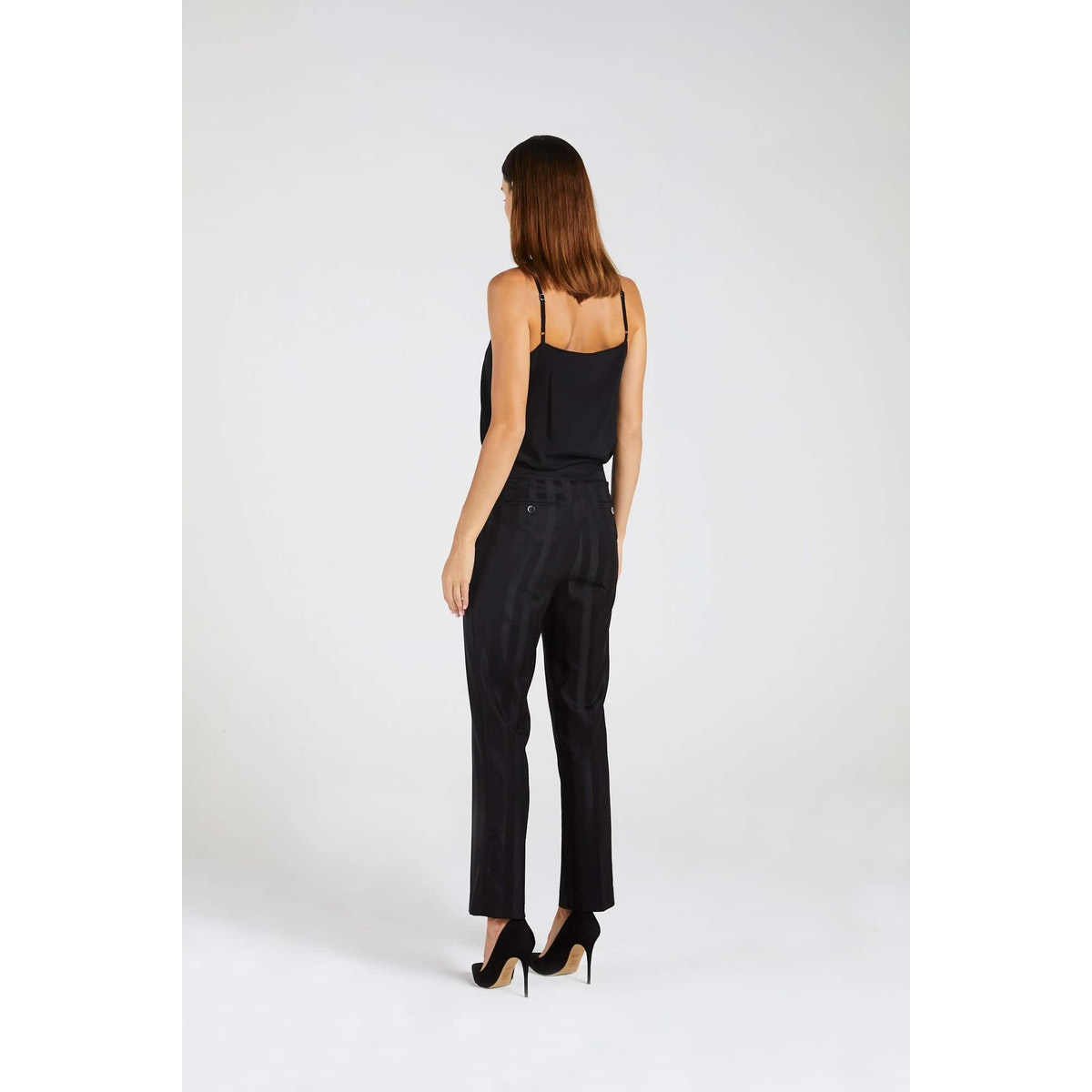 InStitchu Collection The Wylie Thick Black Pinstripe Pants