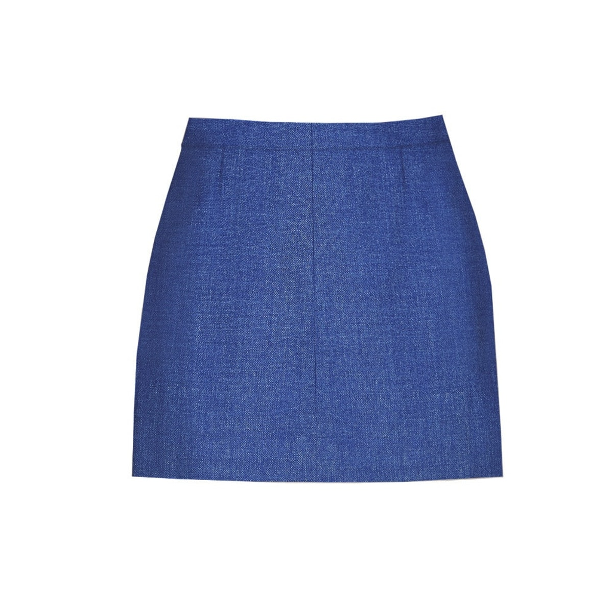 InStitchu Collection The Baudin Blue Textured Skirt