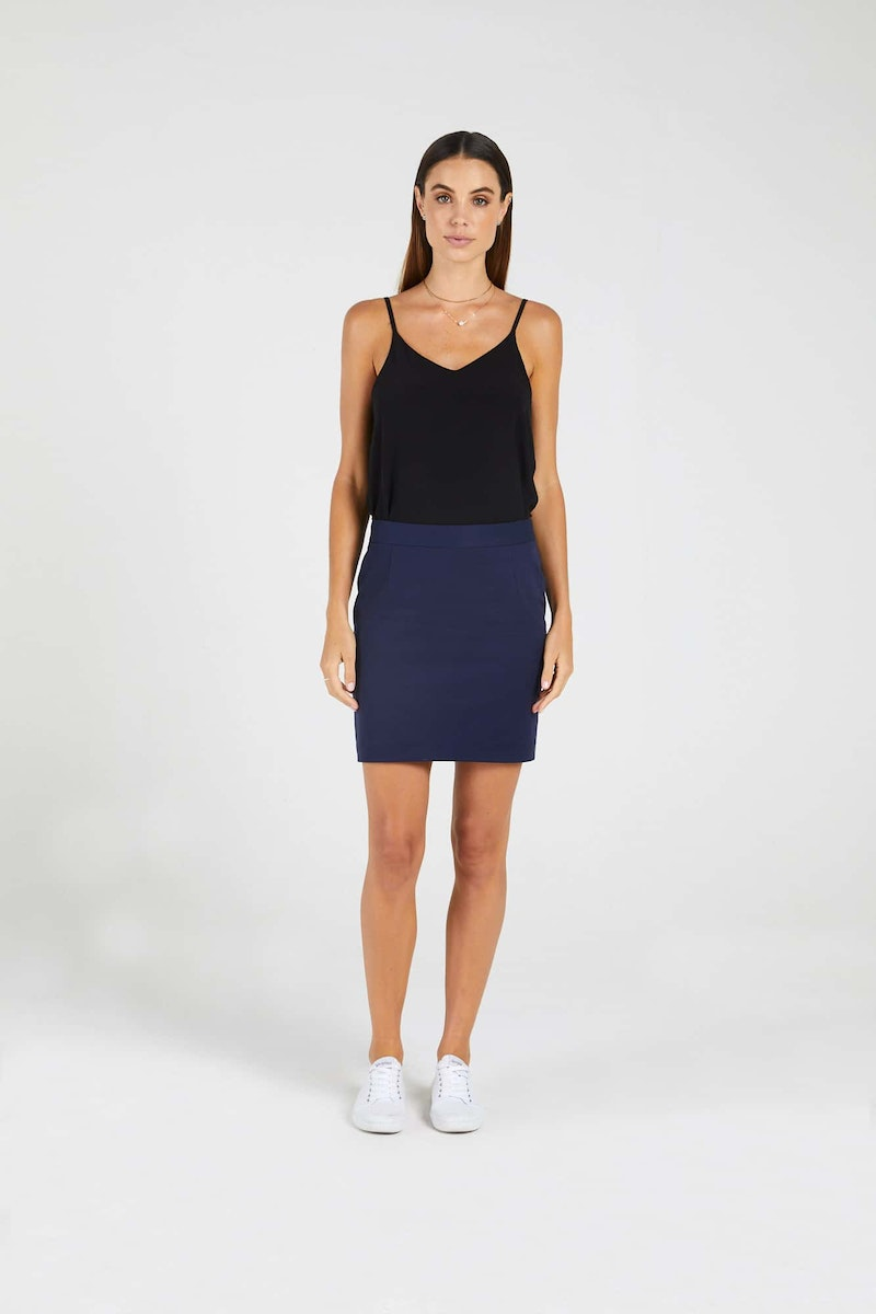 InStitchu Collection The Bonney Navy Tuxedo Skirt
