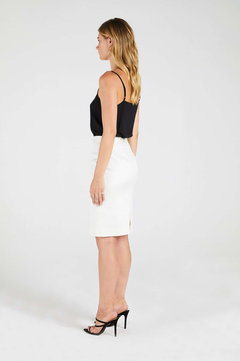 InStitchu Collection The Buttrose Cream Skirt