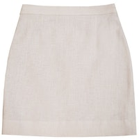 InStitchu Collection The Cabarita Cream Linen Skirt
