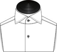 The Spread Collar Tuxedo Shirt