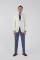 InStitchu Collection The Cream Tuxedo Jacket
