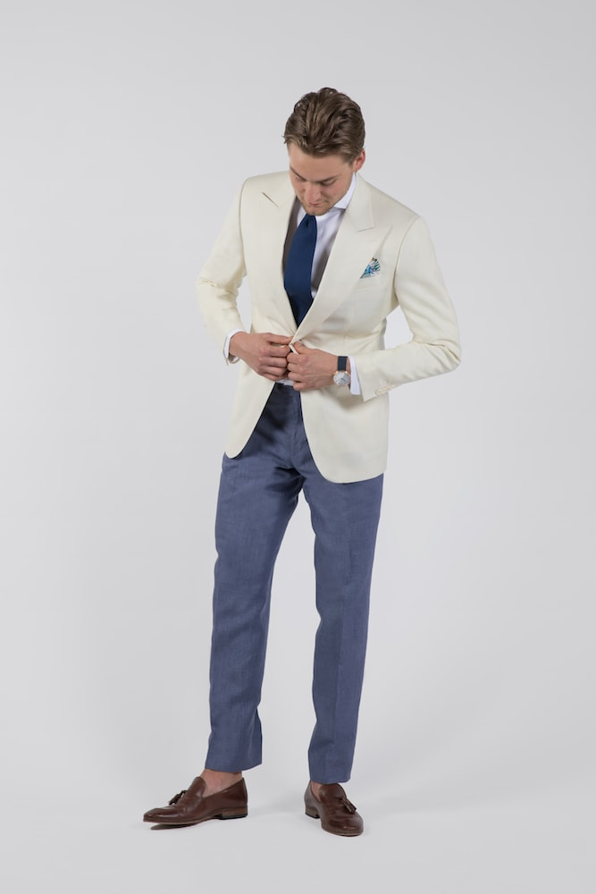 InStitchu Collection The Cream Tuxedo mens suit