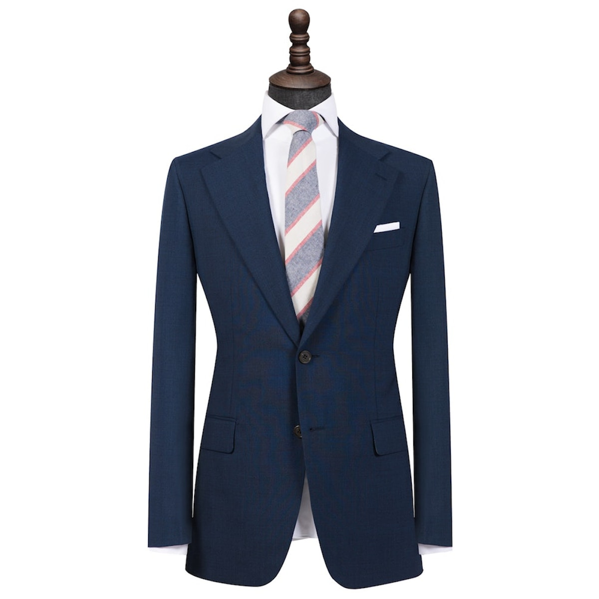 Space Cadet Blue Cool Wool Single-Breasted Blazer